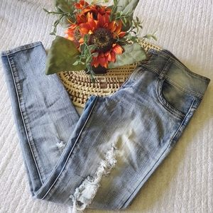 Tractor Skinny High Waisted Blue Jean Size 9